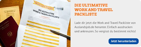 Working-Holiday Packliste